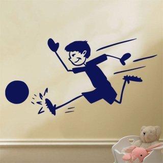Samolepka na zeď Fotbalista 014 - 120x61 cm