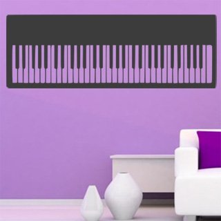 Nálepka na zeď Piano 005 - 286x100 cm