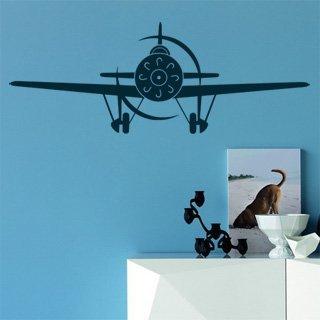 Samolepka na zeď Letadlo 010 - 120x44 cm