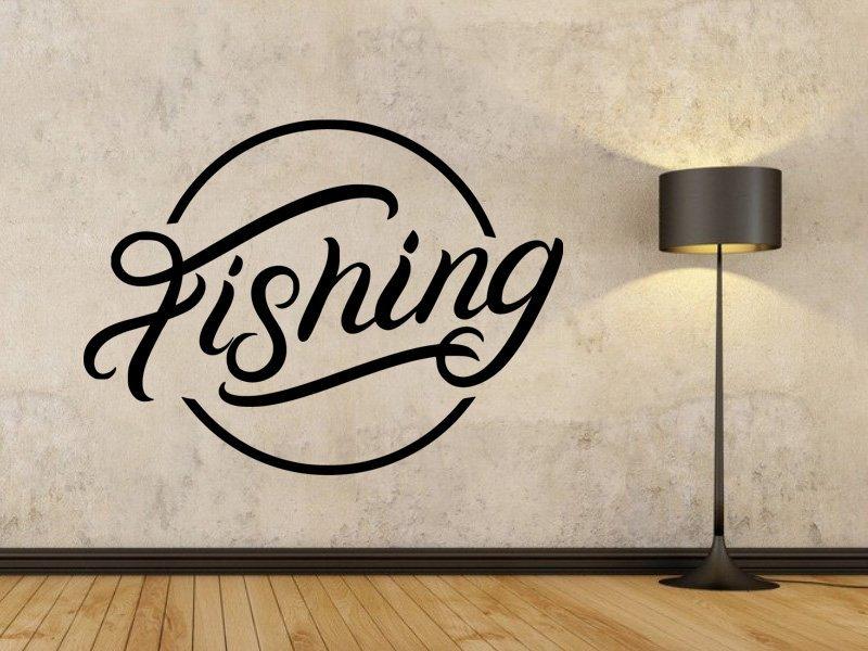 Samolepka na zeď Nápis Fishing 0641