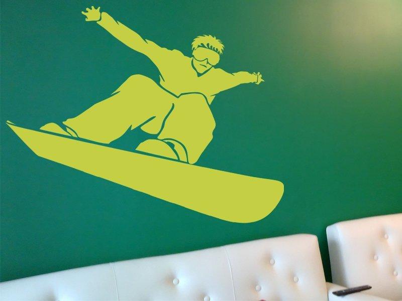 Samolepící dekorace Snowboardista 001 - 108x100 cm