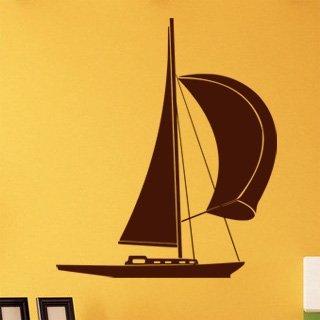 Samolepka na zeď Plachetnice 011 - 60x71 cm