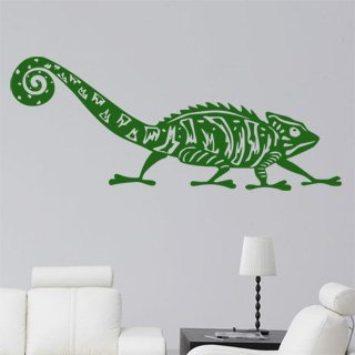 Samolepka na zeď Chameleon 003 - 120x68 cm