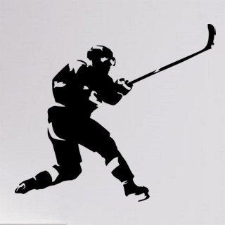 Samolepící dekorace Hokejista 0602 - 113x100 cm
