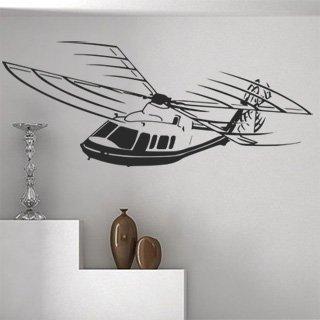 Nálepka na zeď Helikoptéra 003 - 250x100 cm
