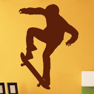 Nálepka na zeď Skateboardista 006 - 100x143 cm