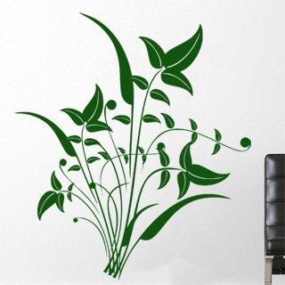 Samolepka na zeď Ornamenty z rostlin 044 - 80x90 cm