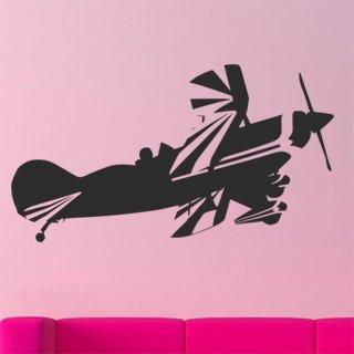 Samolepka na zeď Letadlo 013 - 110x60 cm