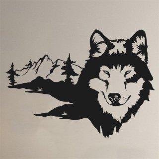 Samolepka na zeď Husky 002 - 83x60 cm