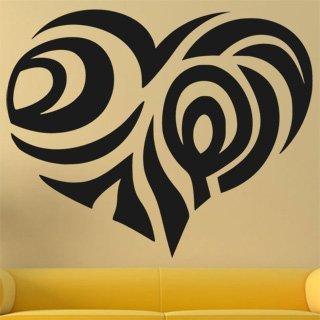 Samolepka na zeď Srdce 0261 - 75x60 cm