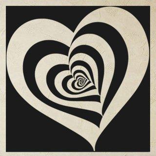 Samolepka Srdce 0263 - 80x80 cm