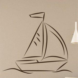 Samolepka na stěnu Plachetnice 009 - 138x120 cm