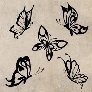 Samolepka na zeď Sada motýlů 002 - 100x105 cm