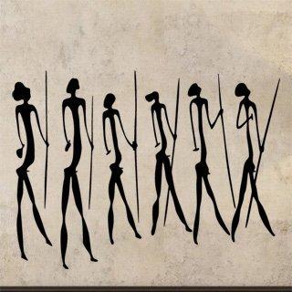 Samolepka Jeskynní lidé 003 - 120x89 cm
