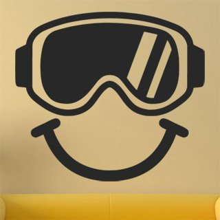 Samolepka Brýle na snowboard 0974 - 120x108cm
