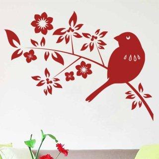 Samolepka Ptáci na větvích 002 - 110x80 cm