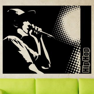 Nálepka na zeď Hip Hop 001 - 130x100 cm