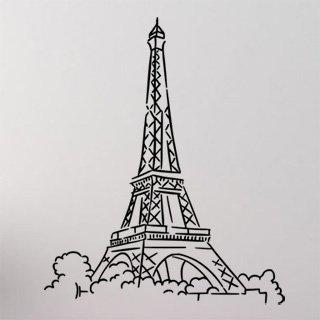 Samolepka na zeď Eifelova věž 003 - 60x72 cm