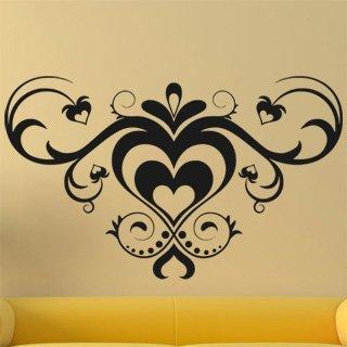 Samolepící dekorace Srdce 0249 - 134x80 cm