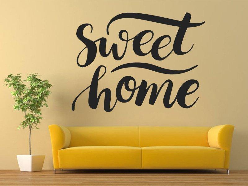 Samolepka na zeď Nápis Sweet Home 0625