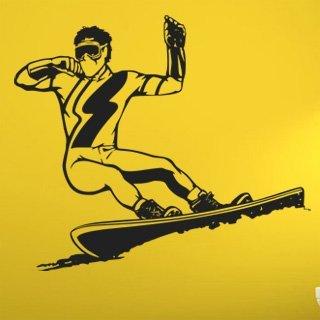 Nálepka na zeď Snowboardista 003 - 140x120 cm