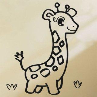 Nálepka na zeď Žirafa 001 - 120x147 cm