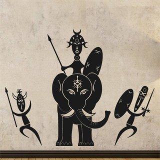 Samolepka na zeď Afričani 006 - 120x95 cm