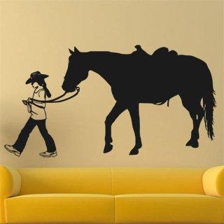 Samolepka na zeď Kůň 0396 - 114x60 cm