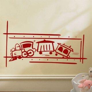 Samolepka na zeď Vláček 002 - 110x60 cm