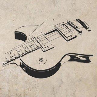 Samolepka na zeď Kytara 005 - 122x80 cm