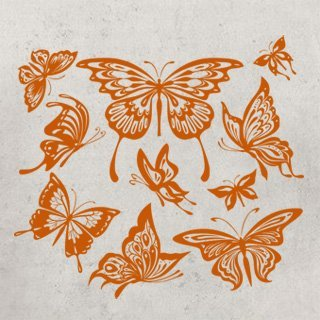 Samolepka na zeď Sada motýlů 001 - 120x108 cm