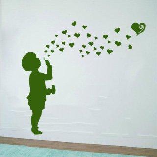 Samolepící dekorace Dítě s bublifukem 001 - 137x120 cm