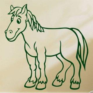 Samolepka Kůň 018 - 80x83 cm