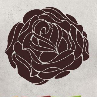 Nálepka na zeď Růže 006 - 120x111 cm
