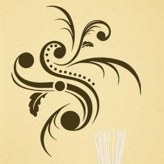 Samolepka Ornamenty z rostlin 007 - 80x94 cm