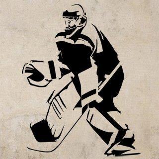Samolepka Hokejista 0599 - 80x104 cm