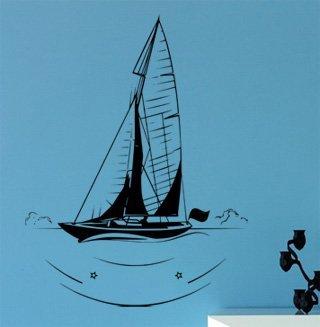 Samolepka na zeď Plachetnice 010 - 80x106 cm