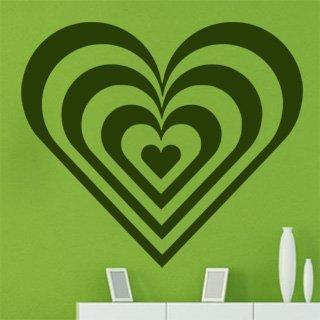 Nálepka na zeď Srdce 008 - 120x105 cm