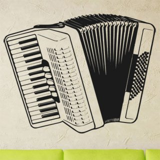 Samolepka na zeď Harmonika 001 - 77x60 cm