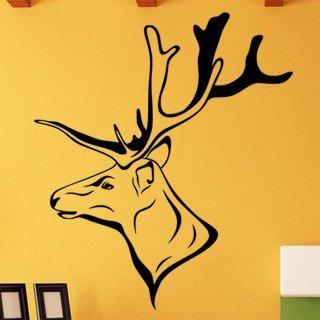 Samolepka na stěnu Jelen 004 - 120x138 cm