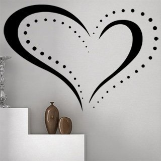 Nálepka na zeď Srdce 0253 - 175x120 cm