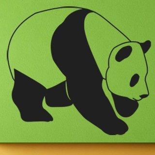 Samolepka Panda 004 - 90x80 cm