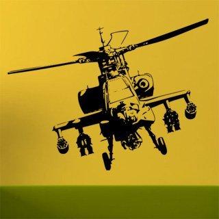 Nálepka na zeď Helikoptéra 004 - 160x120 cm