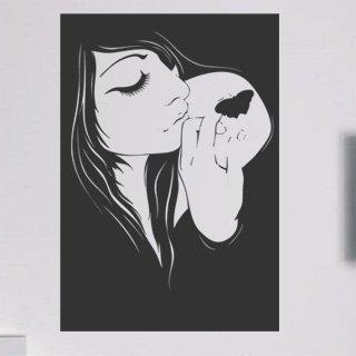 Samolepka na zeď Dívka 018 - 60x88 cm