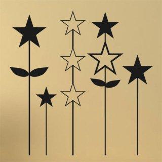 Nálepka na zeď Hvězdy 001 - 120x121 cm