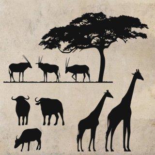 Samolepící dekorace Africké zátiší 001 - 120x115 cm