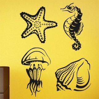 Samolepící dekorace Mořský život 001 - 100x133 cm