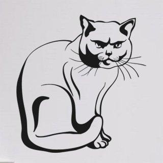 Nálepka na zeď Kočka 0432 - 113x120 cm