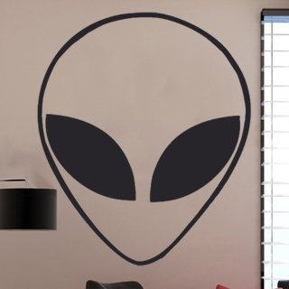 Samolepka na zeď Mimozemšťan 001 - 60x71 cm