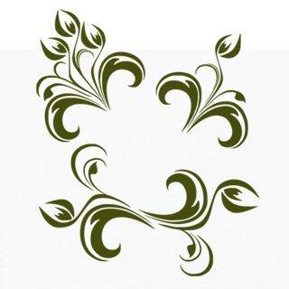 Samolepící dekorace Ornamenty z rostlin 013 - 120x144 cm